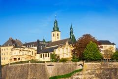 Luxemburg-Marksteinansicht am sonnigen Sommertag Stockbilder