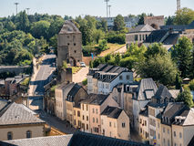 Luxemburg medieval city with surrounding walls. Luxemburg old medieval city with surrounding walls Royalty Free Stock Photography