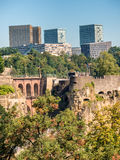 Luxemburg medieval city with surrounding walls Stock Photography