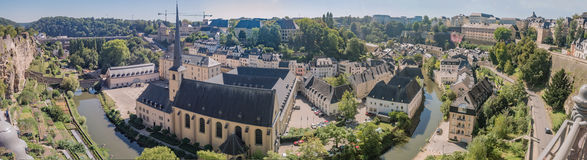 Luxemburg medieval city with surrounding walls. Luxemburg old medieval city with surrounding walls Stock Image
