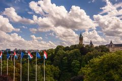 Luxemburg miasto obraz royalty free