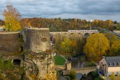Luxemburg miasto na zewnątrz ściany obraz royalty free