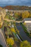 Luxemburg miasto na zewnątrz ściany zdjęcie royalty free