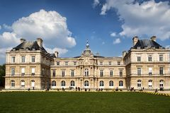 Luxemburg Palace in Paris, France. Luxemburg Palace was originally built to be the royal residence of the regent Marie de Medicis, mother of Louis XIII of France Stock Image