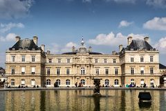 Luxemburg Palace in Paris, France. Luxemburg Palace was originally built to be the royal residence of the regent Marie de Medicis, mother of Louis XIII of France Royalty Free Stock Photo