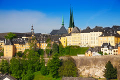 Luxemburg panorama view from high point in summer Royalty Free Stock Photos