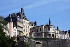 Luxemburg-Skyline Lizenzfreie Stockbilder