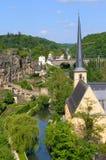 Luxemburg am Sommer Stockfotografie