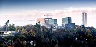 Luxemburg-stad, een Europese stad stock foto's