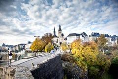 Luxemburg-Stadt, auch so schön im Herbst! lizenzfreie stockfotografie