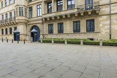 LUXEMBURG-STADT, LUXEMBURG - 1. JULI 2016: Großherzoglicher Palast Lizenzfreies Stockbild