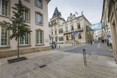 LUXEMBURG-STADT, LUXEMBURG - 1. JULI 2016: Großherzoglicher Palast Stockbilder