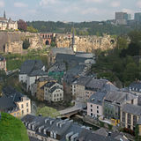 Luxemburg-Stadt-Panorama Stockfotos