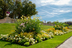 Luxemburg tuiniert detail, Parijs, Frankrijk royalty-vrije stock foto