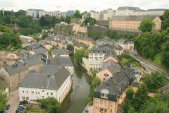 Luxemburg van de binnenstad Stock Foto