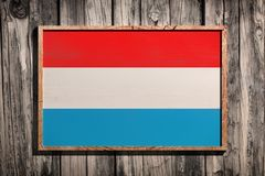 Luxemburgo de madeira embandeira Fotografia de Stock