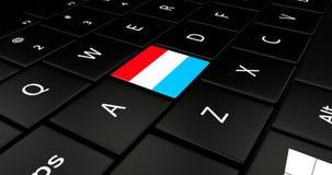 Luxemburgo embandeira o botão no teclado do portátil ilustração royalty free