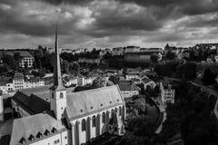 Luxemburgo en día nublado Imagen de archivo libre de regalías