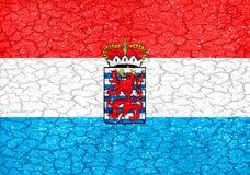 Luxemburgo Grungeflagga Arkivbild