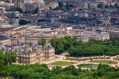 Luxemburgo jardina como visto de cima de Imagens de Stock