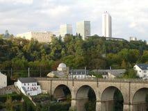Luxemburgo puentea Imagen de archivo libre de regalías