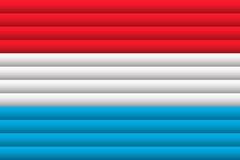 Luxemburgo señala el camino de w/clip por medio de una bandera Ilustración del vector libre illustration