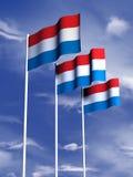 Luxemburgo señala por medio de una bandera Fotos de archivo libres de regalías