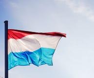 Luxemburgo señala por medio de una bandera en una buena luz Imagen de archivo libre de regalías