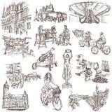 Luxemburgo viaja - desenhos sem redução ilustração royalty free