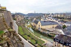 Luxemburgo - vista de la abadía Imagen de archivo