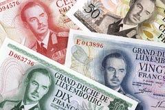 Luxemburgska pengar en affärsbakgrund arkivfoto