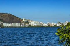 Luxeplaats van de lagune Ontdek de schoonheid van lan stock afbeelding