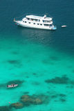 Luxery cruise on clear water  at Similan island Stock Photography