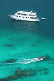 Luxery cruise on clear water  at Similan island. South of Thailand Royalty Free Stock Image