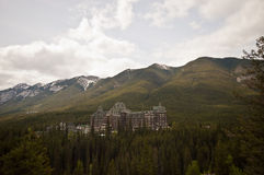 Luxery hotel and snow mountain. Luxery grand hotel and snow mountain Stock Photography