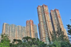 A luxery Residential district in Hang Hau. The luxery Residential district in Hang Hau Stock Images