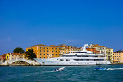 Luxery yacht. In venice, italy Royalty Free Stock Photos