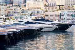 Luxery yachts in the Monte Carlo. Harbour, Monaco Stock Images