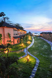 Luxetoevlucht bij zonsondergang in het paradijs van Thailand Stock Afbeelding