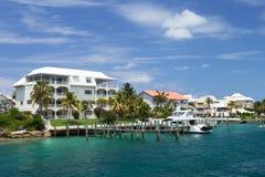 Luxevilla's, Paradijseiland, Nassau, de Bahamas Stock Foto's