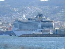 Luxo do navio de cruzeiros e relaxamento Fotografia de Stock Royalty Free