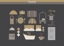 Luxo do vetor do ícone do hotel ilustração do vetor