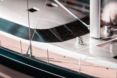 Luxo, na escala, iate modelo Vida da navigação, projetos grandes, planos futuros Projeto naval e planejamento em detalhe fotografia de stock royalty free