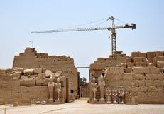 Luxor, Ägypten - alt und modern Lizenzfreies Stockfoto