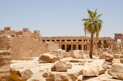 Luxor, Αίγυπτος, στις 23 Ιουλίου 2014 Καταστροφές στο ναό karnak Στοκ Φωτογραφία