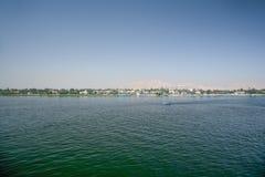 Ποταμός του Νείλου σε Luxor Στοκ Φωτογραφία