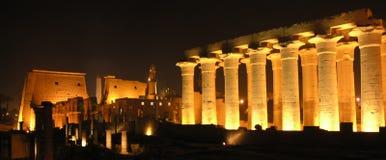 Luxor bis zum Nacht Stockfotografie