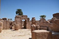 Luxor Egipet Ruinytempel Royalty-vrije Stock Afbeelding