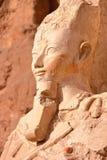 LUXOR, EGIPT: Osiris statua przy Hatshepsut świątynią Obraz Stock