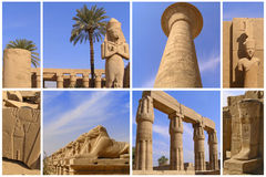 Luxor of Egypt. Sightseeing tour of Egypt. Ancient architecture. Ruins Stock Images